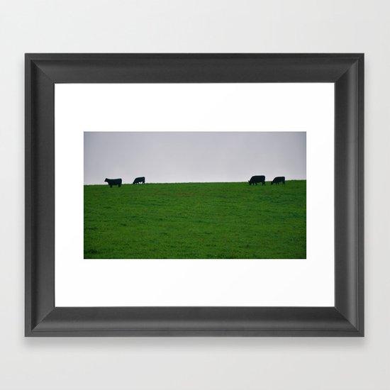 Minimal Cows Framed Art Print