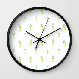 Sweetheart – Blue & Green Wall Clock