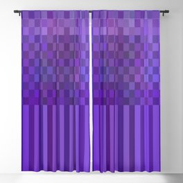 Bright Lines Blue Blackout Curtain