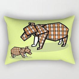 Origami Bear Rectangular Pillow