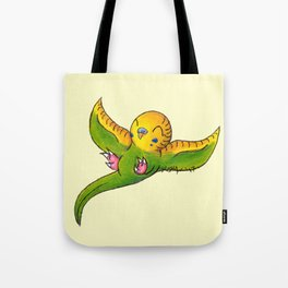 Little Green Parakeet Tote Bag