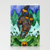 umbreon Stationery Cards featuring Eeveevolution Series - Umbreon by Jazmine Phillips