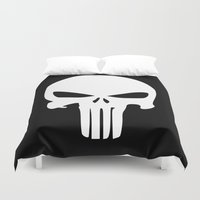 punisher Duvet Covers featuring The Punisher by sokteulu