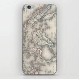 Vintage Map of Indonesia and The Philippines iPhone Skin