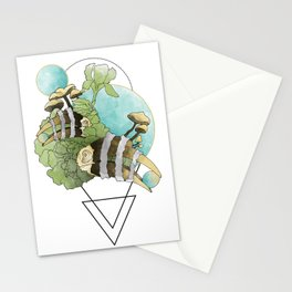 Hornbill Skulls - Green/Blue Stationery Cards