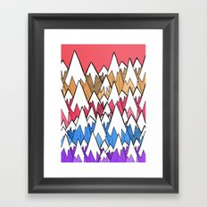 Mountains of colour Framed Art Print