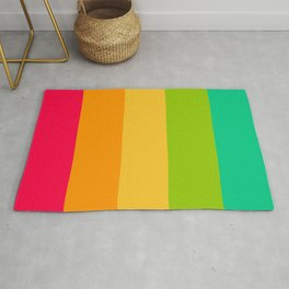 Sweet lollypop candy bright colorful stripes Rug