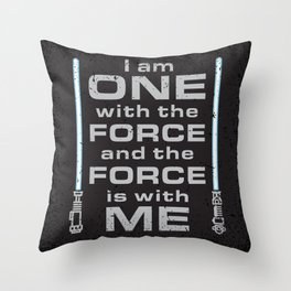 Force is with Me - Blue&Black Throw Pillow