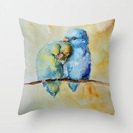 Cute Birds in Love Throw Pillow