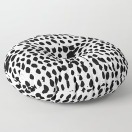 Flowing dots 02 Floor Pillow