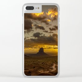 Monument Valley - Vivid Sunrise Clear iPhone Case