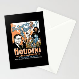 Harry Houdini, do spirits return? Stationery Cards