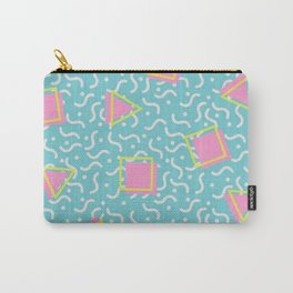 TOTALLY RAD 80s / 90S RETRO CALIFORNIA PATTERN Carry-All Pouch