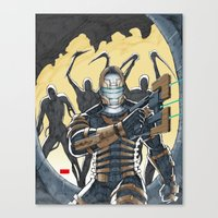 dead space Canvas Prints featuring Dead Space by J. J.