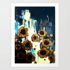 Blooming by the Glacier Art Print