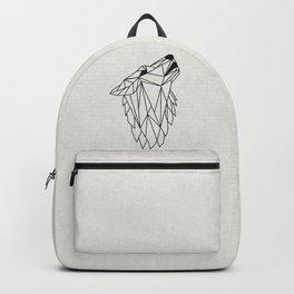 Geometric Howling Wild Wolf Backpack