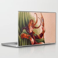 loki Laptop & iPad Skins featuring Loki by silvertales