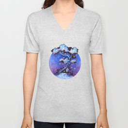 Ninja and the tree of lights Unisex V-Neck