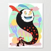 madoka magica Canvas Prints featuring Madoka Magica - Bebe by Misha