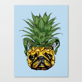 Pineapple French Bulldog Canvas Print