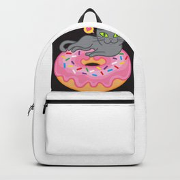 My cat loves donuts 2 Backpack