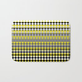 Lines and Squares Bath Mat