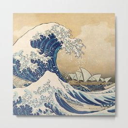 The Great Wave - Sydney Metal Print