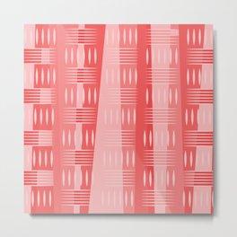 Geometric Forms in Pink Tones Metal Print