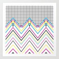 80's Chevy Grid Art Print