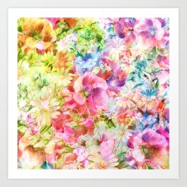 tendres fleurs des champs Art Print