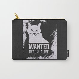 Wanted Dead & Alive Schrodinger's Cat Graphic Design Art Print Carry-All Pouch