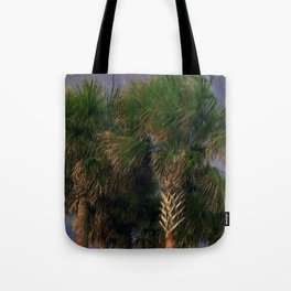 Palm Trees, Stormy Weather Tote Bag