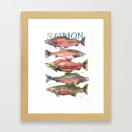 Salmon Salmon Salmon Framed Art Print