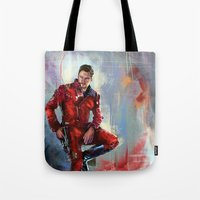 star lord Tote Bags featuring Star-Lord by Wisesnail
