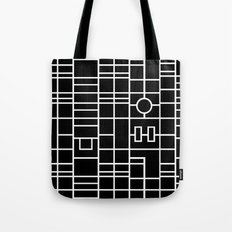 Map With Roundabout Tote Bag