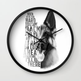 German Shepherd Quote Text Wall Clock