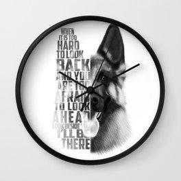 German Shepherd Quote Text Wall Clock