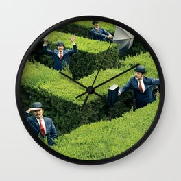 Funny man in Maze Wall Clock