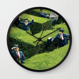 Funny man in Maze Wall Clock