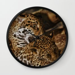 Jaguars: Mother and Baby Wall Clock