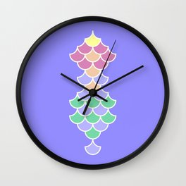 Lilac Mermaid Scales Wall Clock