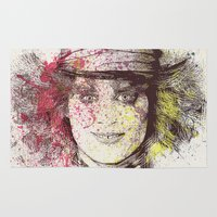 johnny depp Area & Throw Rugs featuring johnny depp (alice in wonderland) by Nechifor Ionut