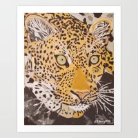 leopard Art Prints featuring Leopard by stevesart