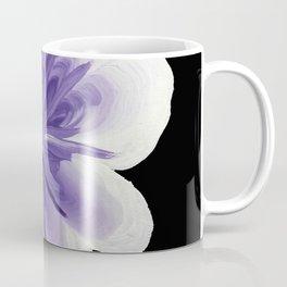 Large Flower Filigree Scroll Floral Art Acrylic Painting Purple Flower Coffee Mug