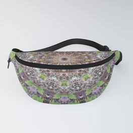 Natural elements in forest mandala Fanny Pack