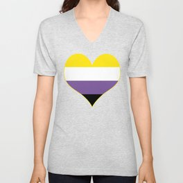 Gender Non-Binary Heart Unisex V-Neck