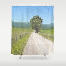 All Roads Lead to Here Shower Curtain