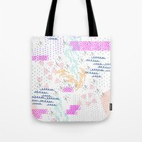 poop Tote Bags featuring Party Poop by gingr.lily
