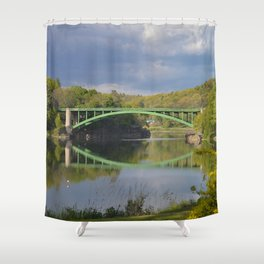Summer Storm Clouds - Delaware River Shower Curtain