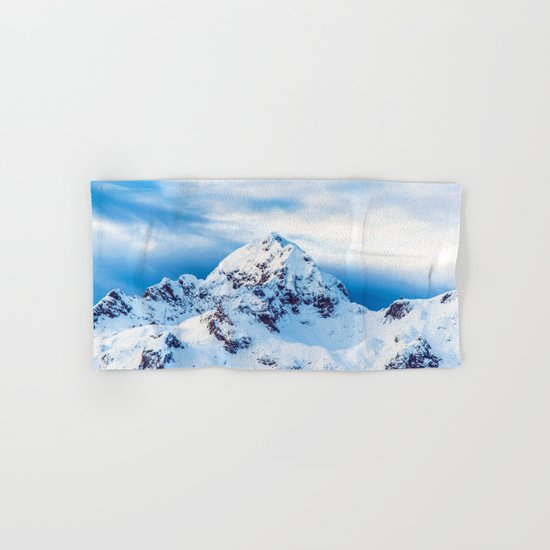 Snow Covered Mountain Hand & Bath Towel